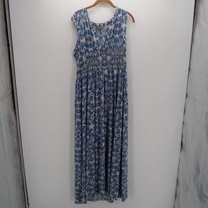 Daisy Fuentes Boho Sleeveless Pleated Party Dress